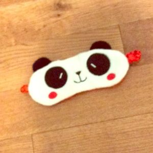 Other - Panda sleeping mask made in China 100% polyester